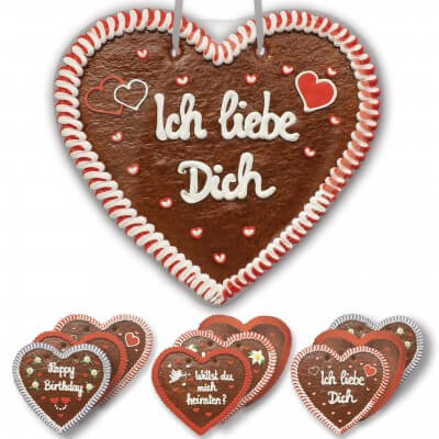 Gingerbread heart in XXL - 50cm - different patterns