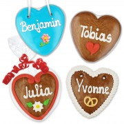 Individual Gingerbread hearts 10cm as a give away
