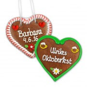 Individual Gingerbread Heart 12cm