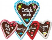 Gingerbread Heart Mixed Box -16cm - 30 hearts per box - various