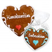 Gingerbread Heart Place Card Konstantin