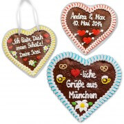 Customizable gingerbread heart 24cm as give-away