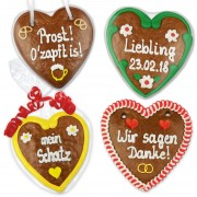 14cm gingerbread heart Designed according to your wishes