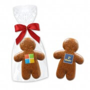 Gingerbread Man 7cm - with company logo in gift bag