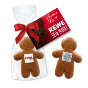 Mini gingerbread man 7cm - with edible logo and advertising card