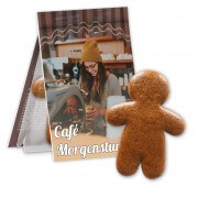 Gingerbread man incl. printed folding card