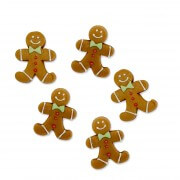 Gingerbread man sugar figures set, 36 pieces