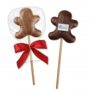 Gingerbread Man Lolli optional with edible logo