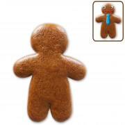 Gingerbread man blank for self-decorating, 10cm