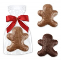 Chocolate gingerbread man single packed - whole milk or dark chocolate