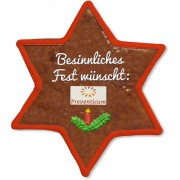 Gingerbread Star, customizable 18cm