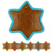 Gingerbreadstar blank with border, 24 cm