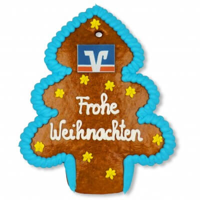 Gingerbread Christmas Tree, individual 20cm