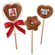 gingerbread lolli-pop with milk chocolate