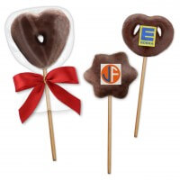 Gingerbread lollies in star heart and pretzels shape - with optional logo