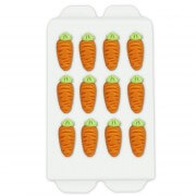 Marzipan carrot baking decorations, 12 pieces