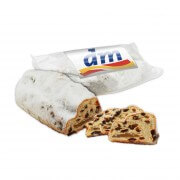 Marzipan stollen without raisins - with an individual advertising label, 500g