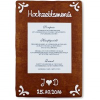 Gingerbread Menu Card Benjamin