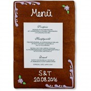 Gingerbread Menu Card Felizitas