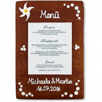 Gingerbread Menu Card Isabella