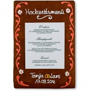 Gingerbread Menu Card Jana
