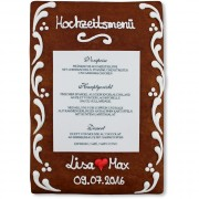 Gingerbread Menu Card Konstantin