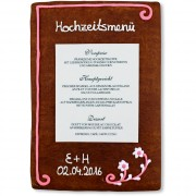 Gingerbread Menu Card Ramona