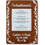 Gingerbread Menu Card Sophia
