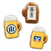 Mini gingerbread beer mug with logo and pin - 7cm