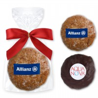 Mini-Gingerbread Cookies incl. Logo - single packed