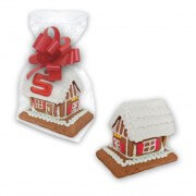 Individual mini gingerbread house with - extra small