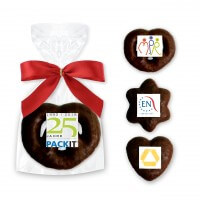 Hearts - Prezels - Stars, dark chocolate mini - incl. Logo