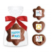 Mini Hearts - Prezels - Stars, milk chocolate - optional with Logo