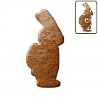 Easter cookie blank rabbit with backpack about 12 cm