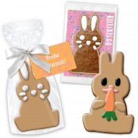 Happy Easter bunny about 12cm with greeting card