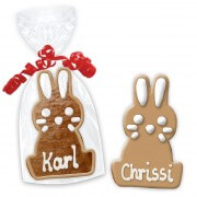 easter cookie place cards, sitting bunny 12cm