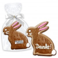 Easter cookie rabbit sitting about 12cm optional with text & logo
