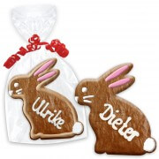 Easter bunny with name 12cm