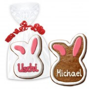 Easter cookie place card, bunny head 12cm