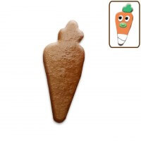 Easter cookie blank carrot, 12cm