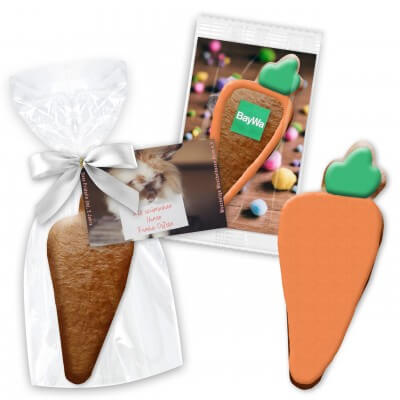 Easter gift carrots cookies 12cm incl. rack card