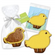 Giveaway chick, approx. 12cm - incl. greeting card for easter