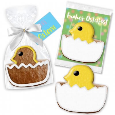Easter cookie hatched chick, approx. 12cm - incl. rack card