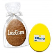 Easter egg present 12cm opt. with text or logo