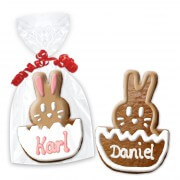 easter cookie place cards, bunny in egg 12cm