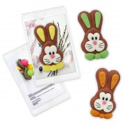Easter Bunny sugar figurine with individual promo card