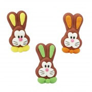Candy decorations Easter bunny faces, 72 pieces