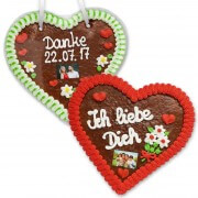 Gingerbread Heart with Photo, 24cm