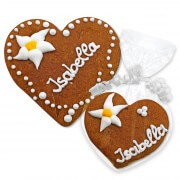 Gingerbread Heart Place Card Isabella