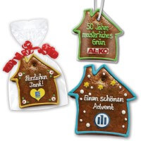 Gingerbread houses flat, customized 20cm